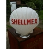 1960s Shellmex Glass Petrol Pump Globe (just neck chips) available