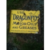 1920s Dragonfly Motor oils & Greases Enamel Sign Double Sided available