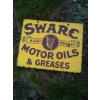 Scarce 1920s Swarc Motor Oil Enamel Sign available