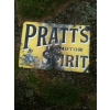 Scarce 1900s Pratts Perfection Spirit Enamel Sign available
