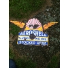 1920s Aero Shell Lubricating oil Enamel Sign available
