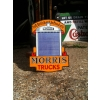 SOLD 1920s Morris Trucks Radiator Enamel Sign Double Sided