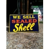 1920s Sealed Shell Motor spirit Enamel Sign Double Sided available