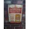 Rarity 1920s Morrisol Oil Metal Advertising Sign available
