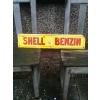 SOLD 1920s Shell Benzin Enamel porcelain Sign