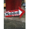 1930s Mobiloil Arrow Poiunter Enamel Porcelain Sign available