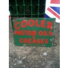 Rarity 1920s Cooler Motor Oils & Greases Enamel Sign available