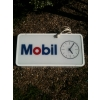 1970s Mobil Lightbox Clock Sign (double sided) available