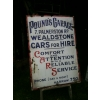 "Unique? 1910s Pounds Garage ""CARS"" Harrow London Enamel Sign available"
