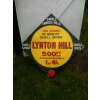 Rarity 1900s Shell Hill Series Enamel Advertising Sign Lynton Hill 1 of the pair) available