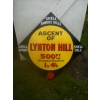 Rarity 1910s Shell Lynton Hill Devon Enamel Porcelain Sign (1 of the pair) available