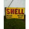 1910s Shell Motor Spirit & Oil Enamel Porcelain Sign (double sided postmount) available