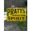 1910s Earliest Pratts Perfection Spirit Enamel Sign 6x4 feet Size