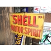 Rarity 1931 Shell Motor Spirit Printed Metal Sign With Strengthening Rods For Rigidity (double sided made by henry grant) available