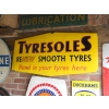 1950s Tyresoles Tyre Enamel Sign available