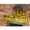1930s Raleigh Bicycle Die-cut Enamel Sign available