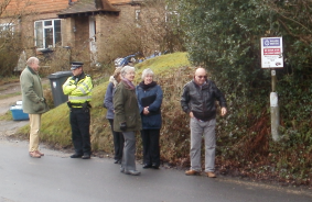 Cllrs, Sussex Police, Trading Standards & Alderbrook Community Association
