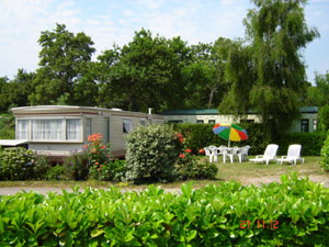 3 bedroom mobile home caravan on Siblu Park Domaine de Kerlann Brittany