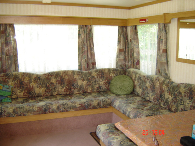 Internal veiw of the above mobile home caravan