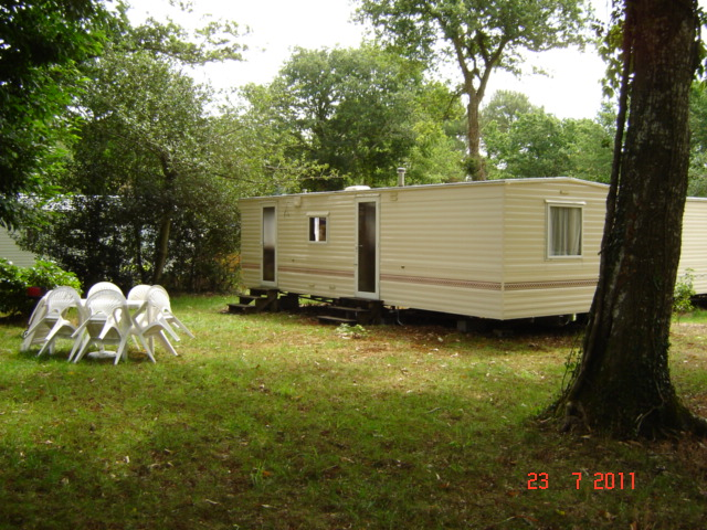 2 bedroom mobile on Camping Fleuri Nevez Brittany