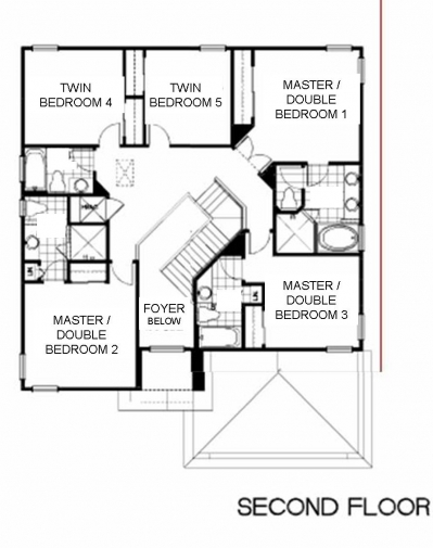 Crystal palm villa floor plans for 3 bedroom ensuite house plans