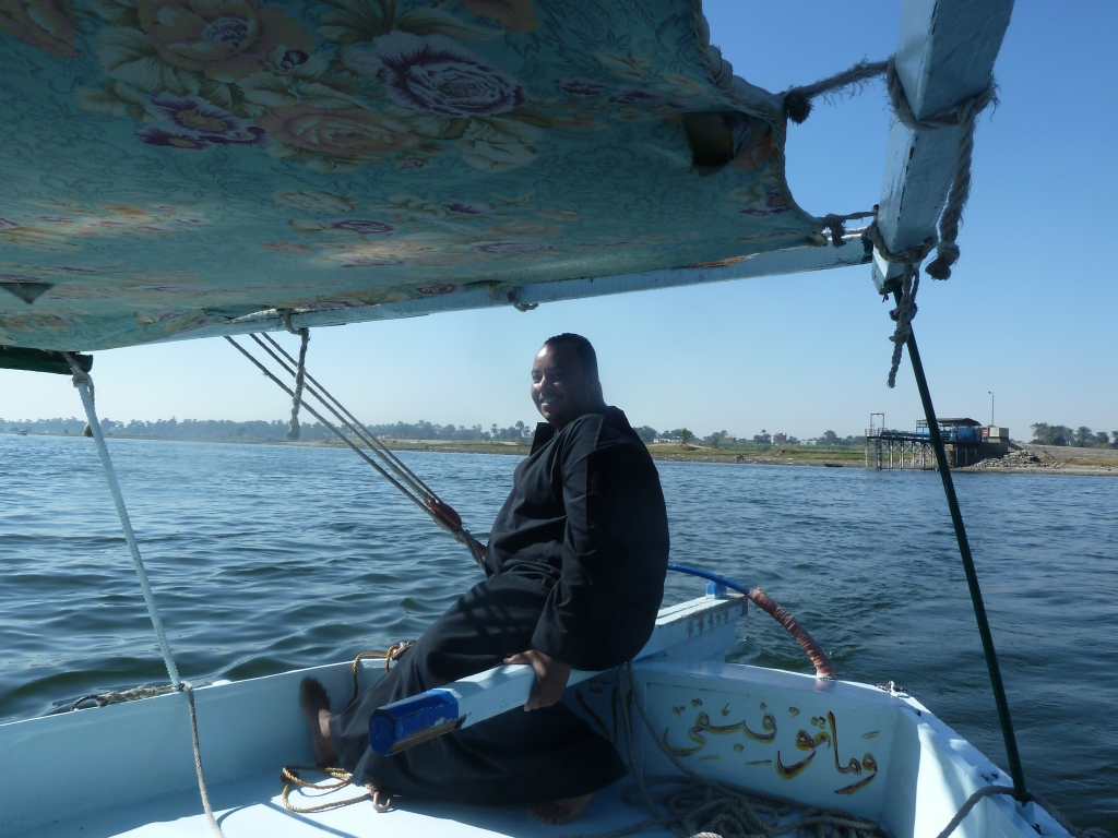 Captain Adel sailing the Mona Lisa