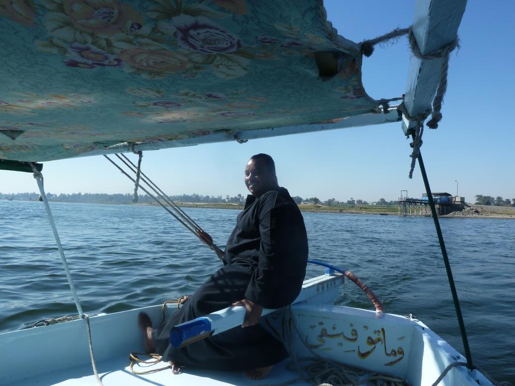 Captain Adel sailing the Mona Lisa