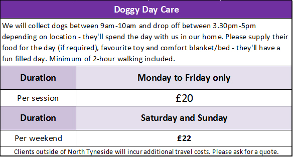 WALKING THE DOG - Doggy Day Care Prices 2010