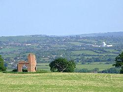  View of Ansford from Ditcheat Hill