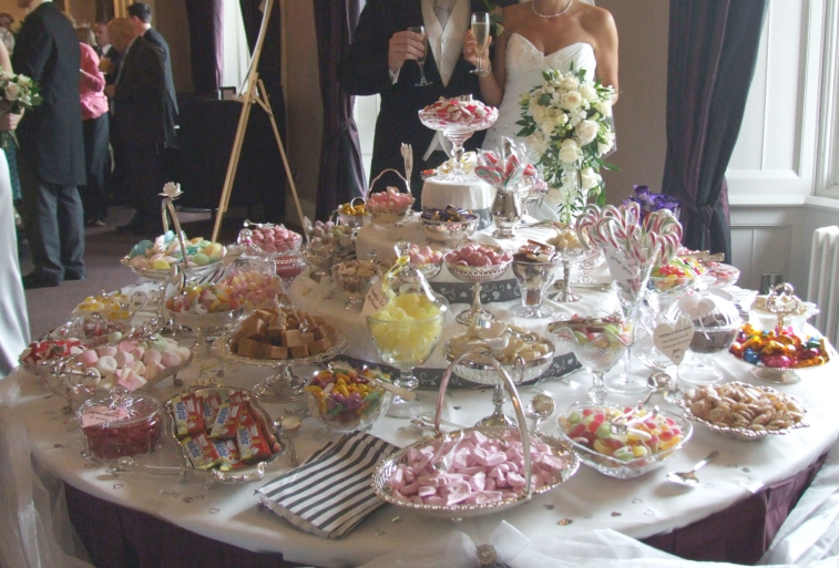 wedding sweets and candy buffet table stapleford, newark, nottingham, sheffield, derby