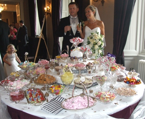 sweets buffet table Stratford-on-Avon for 100 guests