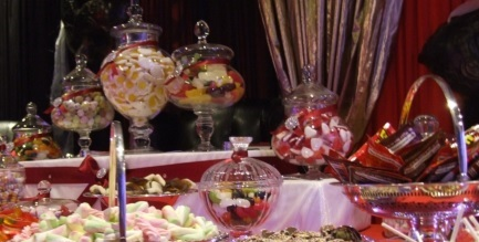 Wedding sweets and candy buffet table Birmingham, Coventry, Solihull, Stratford