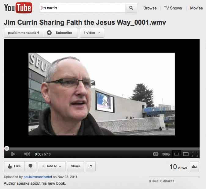 YouTube video Sharing faith the Jesus wa