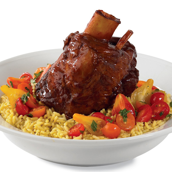 ... lamb shanks braised with mustard and mint beer braised pork shanks