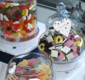 special party and wedding sweets buffet table with 20 choices of sweets and chocolates