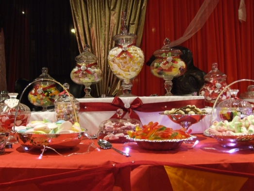 sweets buffet table chesterfield, nottingham, sheffield, grantham, newark