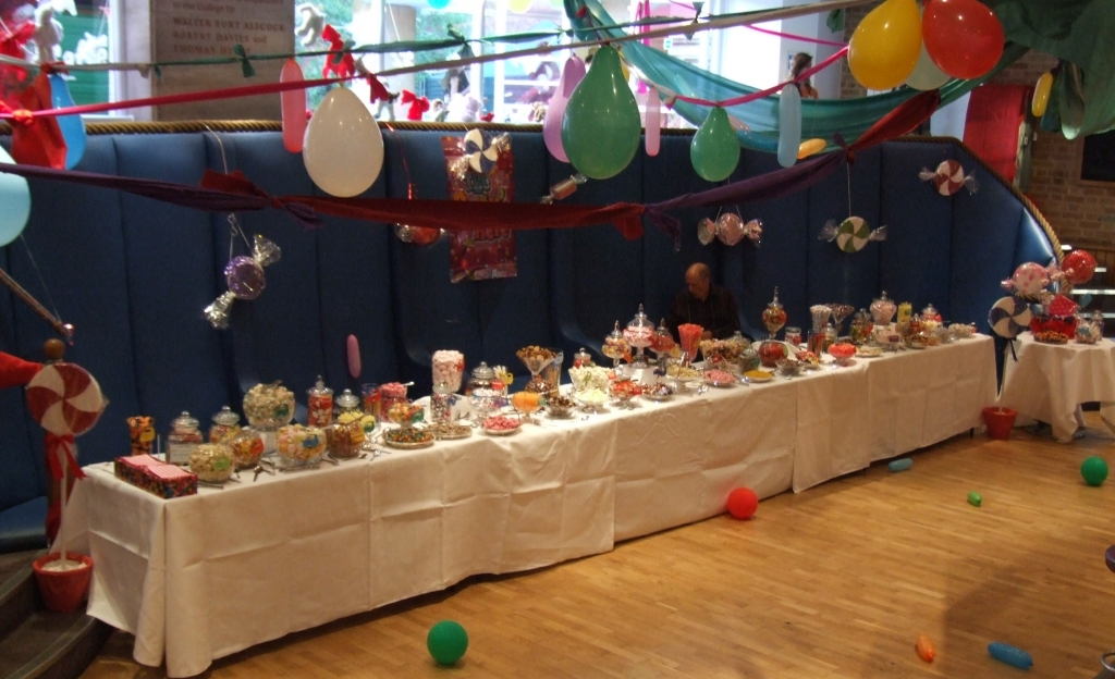 sweets buffet cambridge, 33 varieties chosen for a 24' long table for 1300 guests