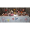 Wedding sweets cart? A Sweet Candy Buffet table gives you tons more variety and choice with loads more sweets to share with your guests. This table has 23 varieties for 100 guests,