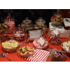 Candy buffet Solihull, a small part of a 12' long table with 30 varieties st Northampton University Ball