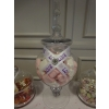 Diamant&eacute; heart sparkles on this jar decoration at the centre of your wedding sweets buffet table