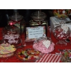 An appropriate Sweets buffet welcome sign is designed for each candy table
