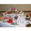Wedding candy buffet Chesterfield. centre of a 12' long table