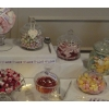Sweet table Northampton. Gorgeous ribbons in your colours to trim your sweets and candy buffet table.