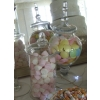 Wedding sweet table chesterfield. Gorgeous jars for your party or wedding sweets and candy buffet table.