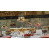 Sweets buffet Nottingham, Centre table image. Choose your ribbon colour for your sweets and candy buffet table