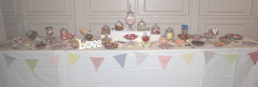 wedding sweets and candy buffet table sheffield, stapleford, nottingham, derby, leicester