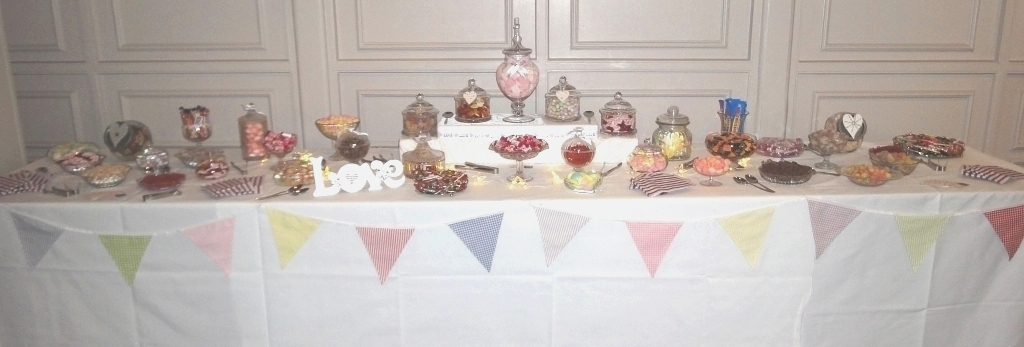 wedding sweets and candy buffet table sheffield, stapleford, nottingham, derby, chesterfield