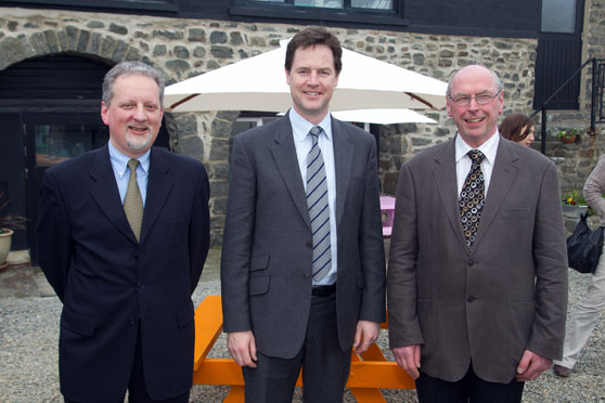 Julian and Keith with Nick Clegg