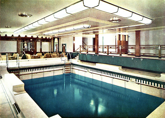 The canadian pacific liner empress of scotland ex empress - Queen mary swimming pool victoria ...