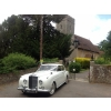 Fergus Poncia's white Bentley waiting for a bride...